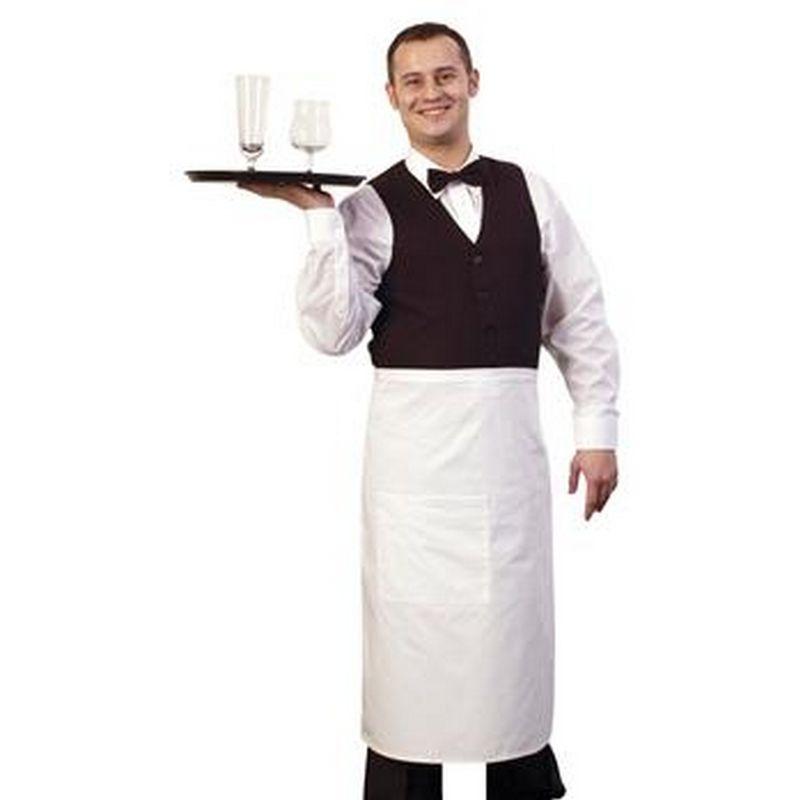 Image of 31 Inch Bistro Apron (One Size) (White) - Bonchef
