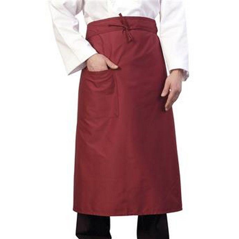 Image of 36 Inch Chef/Bar Apron (One Size) (Burgundy) - Bonchef