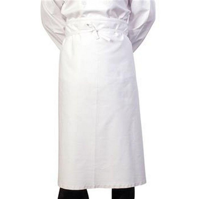 Image of 36 Inch Chef/Bar Apron (One Size) (White) - Bonchef