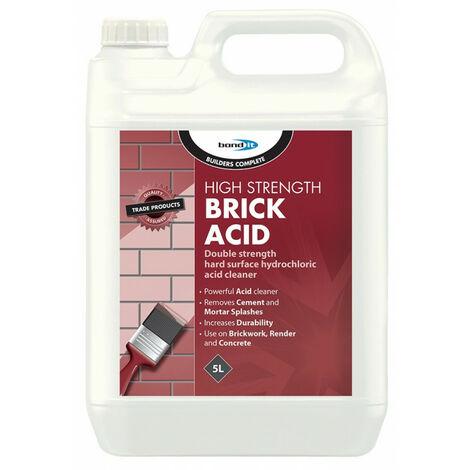 "main image of ""Bond It High Strength Brick Acid Cement Mortar Remover Splash Tiles Cleaner 5L"""