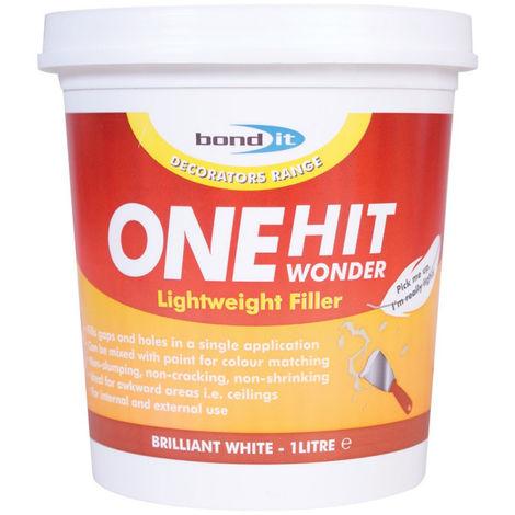 Bond It One Hit Wonder Lightweight Ready Mixed Filler Brick Plaster Concrete - 1 Litre