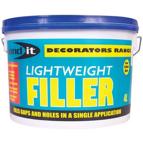 Bond It One Hit Wonder Lightweight Ready Mixed Filler Brick Plaster Concrete - 4 Litre