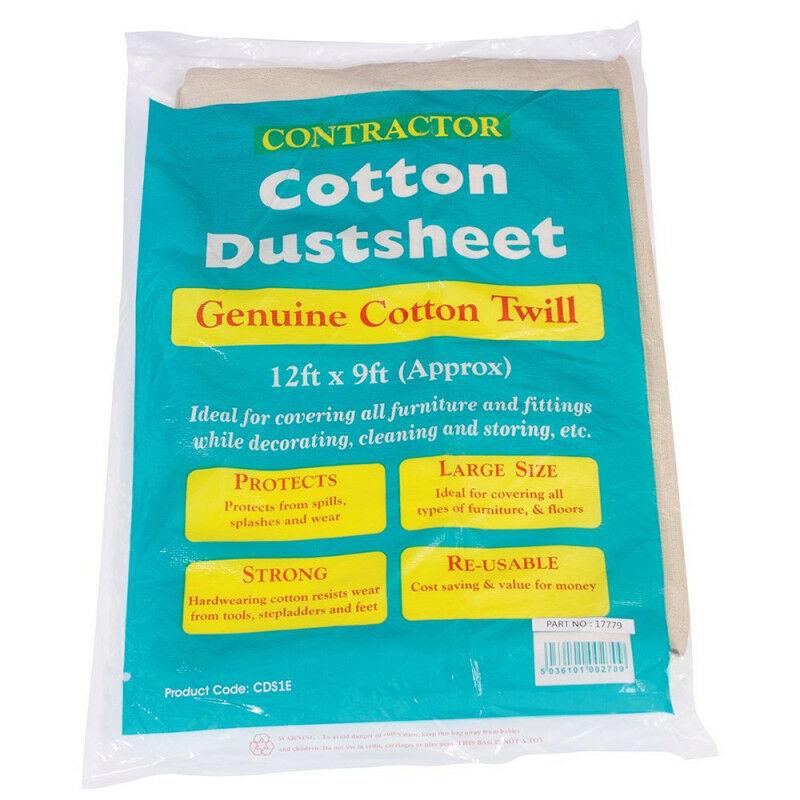 Image of Bond It Professional 12ft x 9ft Cotton Twill Dus Sheet, Decorating, dust