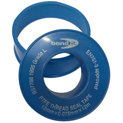 Bond-It Threadseal PTFE Tape 12mm x 12m