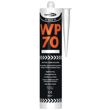 Bond It White WP70 Oxime Silicone General Purpose Mastic Low Modulus