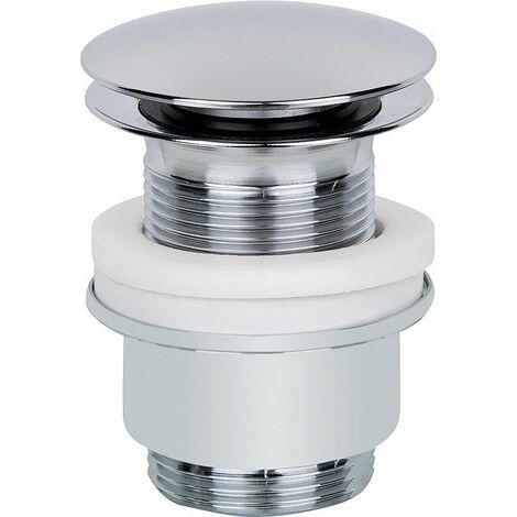 Bonde a clicquer plaque chromée 63 L 70-85 mm sans trop plein