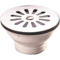 Bonde à grille inox pour évier grès - Pour perçage diamètre 60 mm