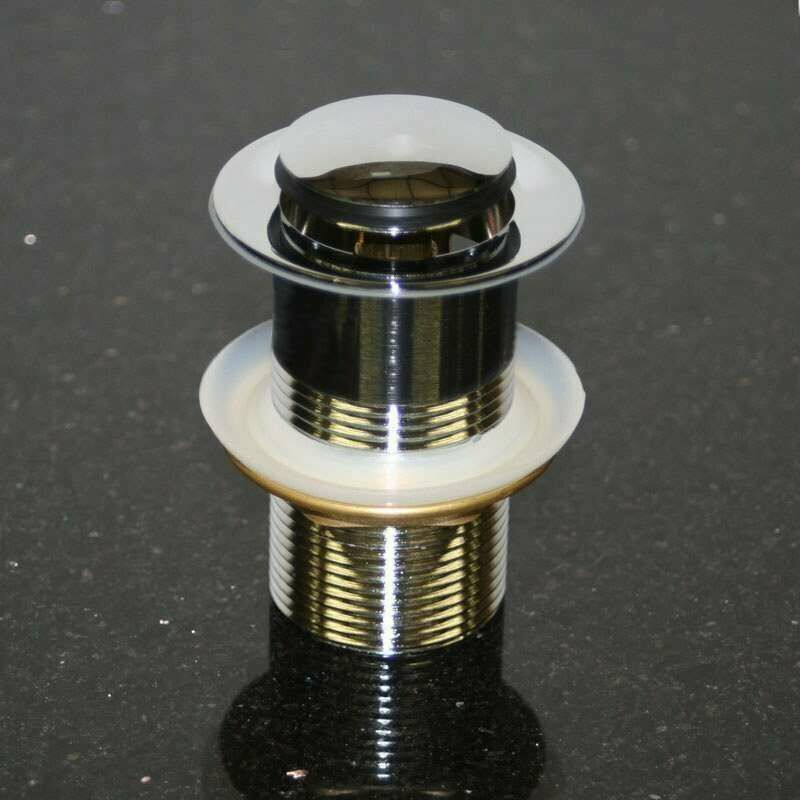 Avec valve pop-up sans trop-plein Raccord siphon 1 1//4 Carr/é Pour lavabo//lavabo Bonde universelle Click Clack En laiton