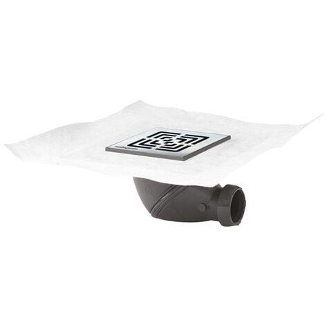 Bonde de douche a chaper JAMES orientable 360° grille carrée inox