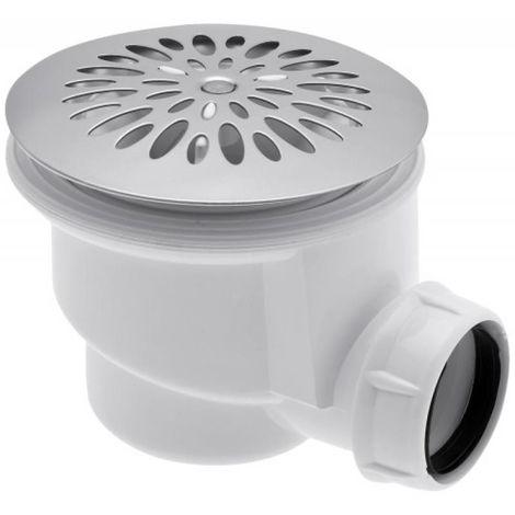 Bonde de douche à grille inox Ø 90 mm
