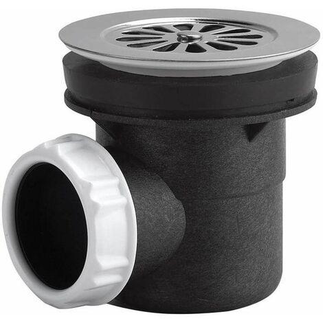 Bonde de douche à grille marguerite pour receveur Ø 60 mm, sortie horizontale à coller