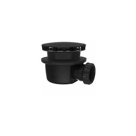 Bonde de douche horizontale - Ø 90 mm - Extra plate - Noire - Valentin
