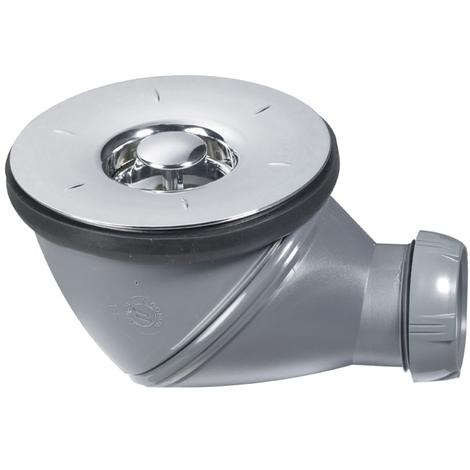 Bonde de douche JAMES grille plate NF Ø90 mm - Wirquin Pro 30720465