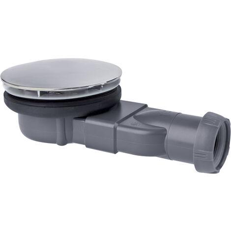 Bonde de douche pour receveur extra-plat - Slim avec membrane d�me m�tal - Wirquin Pro - 30720269