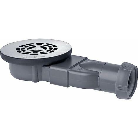 Bonde de douche pour receveur extra-plat - Slim Expert � membrane avec grille en inox - Wirquin Pro - 30720270