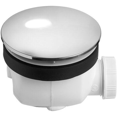 Bonde de douche TWISTO Dôme métal chromé NF Ø90 mm - Wirquin Pro 30720470