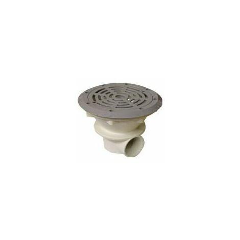 Bonde de fond grise pour piscine béton et liner