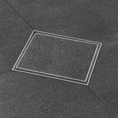 Bonde de sol avec grille modèle à carreler. Grille design carré 10 x 10 cm (code AquaW10x10-MSI6-T+E2F)