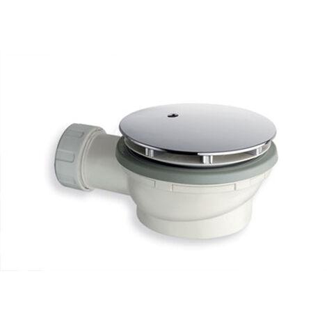 Bonde douche coudée pour receveur de douche extra plate