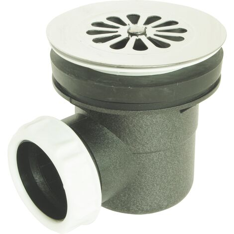 Bonde douche NF Ø60 Sortie Horizontale -Sortie à coller Ø40 et à visser