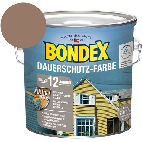 Bondex Dauerschutz-Farbe Sonnenlicht Sahara Holzfarbe Holzschutz 2,5 Liter