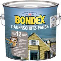 Bondex Dauerschutz-Holzfarbe Schneeweiß 2,50 l - 329891