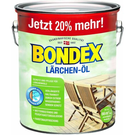 Bondex Huile de mélèze 3,00 l – 388158