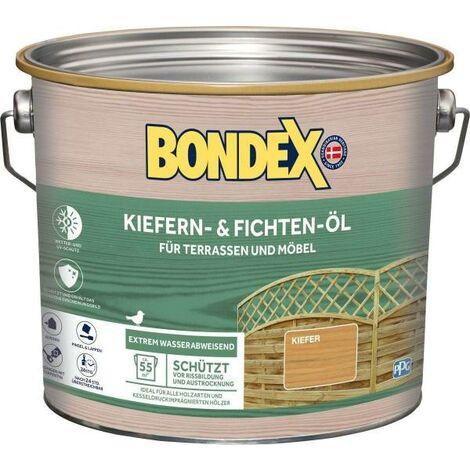 BONDEX Kiefern- und Fichten-Öl, 0,75 - 2,5 l, Wasser-stop Abperleffekt, Witterungsschutz, UV-Schutz 2,5 l BONDEX_329626