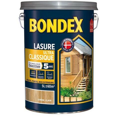 BONDEX LASURE CLASSIQ.5ANS 5L CH.RUST. (Vendu par 1)