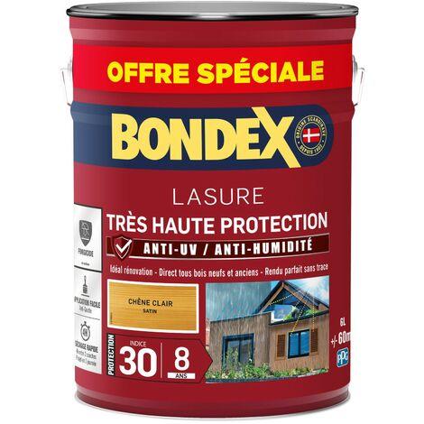 Bondex Lasure Très haute protection satin 8 ans   Finition: Satinée - Couleur: Chêne clair - Conditionnement: 5L + 20%