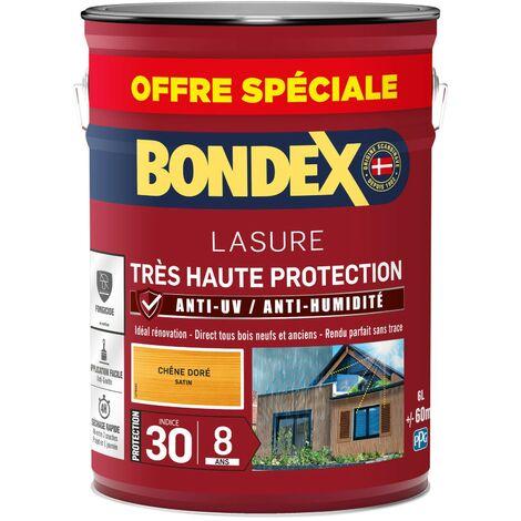 Bondex Lasure Très haute protection satin 8 ans   Finition: Satinée - Couleur: Chêne doré - Conditionnement: 5L + 20%