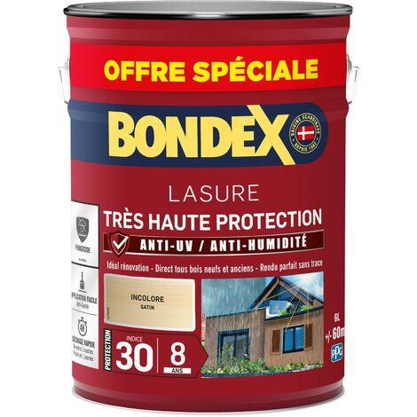 Bondex Lasure Très haute protection satin 8 ans   Finition: Satinée - Couleur: Incolore - Conditionnement: 5L + 20%