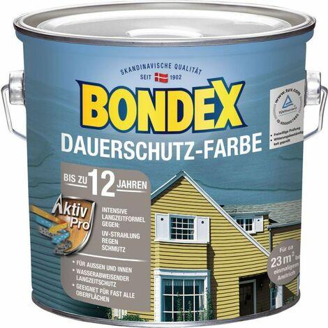 Bondex Protection de longue durée Peinture pour bois bleu tourterelle 2,50 l - 329879