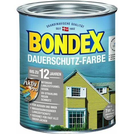 Bondex Protection de longue durée Peinture pour bois gris argenté 0,75 l - 329876