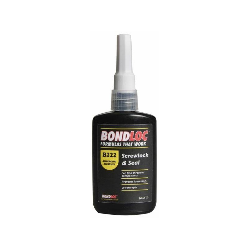 Image of Bondloc - B222 Screwlock Low Strength Threadlocker 50ml (BONB22250)
