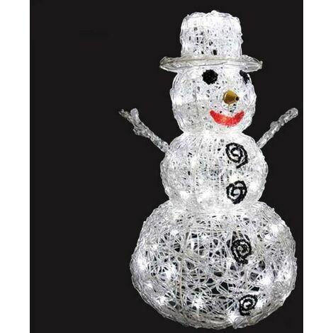 Bonhomme de neige 3D lumineux 96 LED