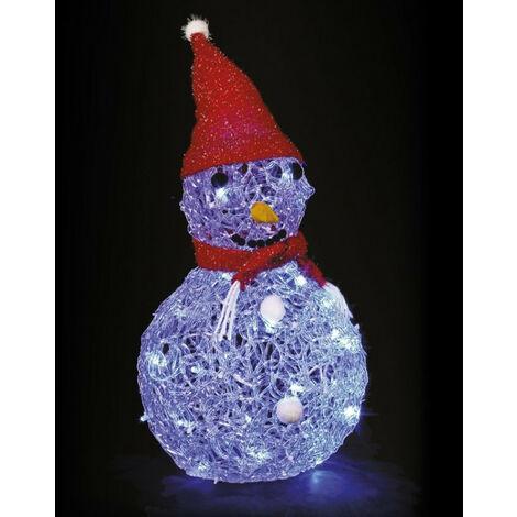 Bonhomme de neige lumineux bleu - Secteur, Bleu