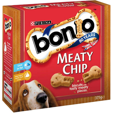 Bonio Meaty Chip Bitesize Dog Treats (5 Packs) (5 x 400g) (May Vary)