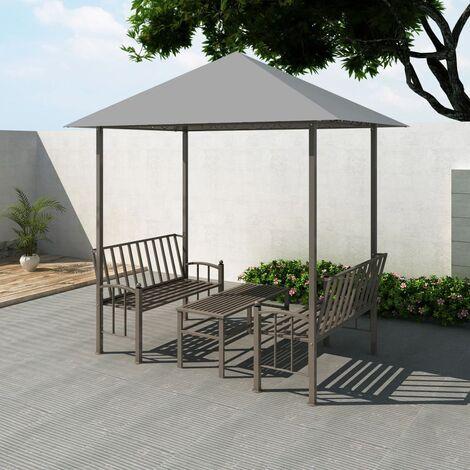 Bonneau 2.5m x 1.5m Steel Patio Gazebo by Dakota Fields - Anthracite
