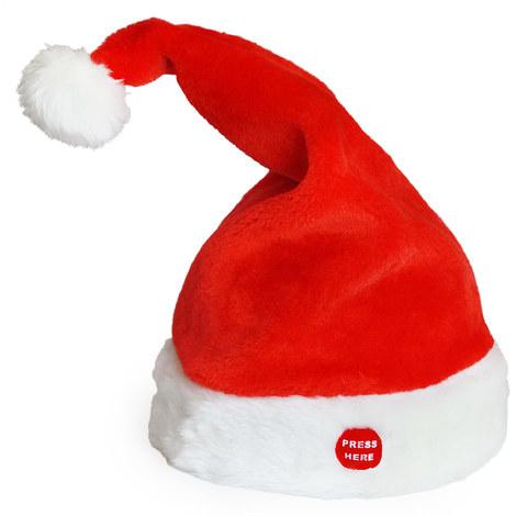 Bonnet du père Noël rockeur + musique dansant chantant Noël Saint Nicolas bonnet
