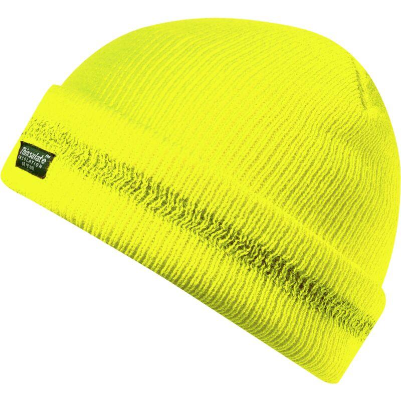 Bonnet réfléchissant jaune - One size
