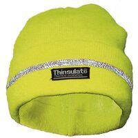 Bonnet tricoté jaune fluo UPIXX 40312