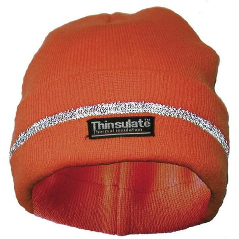 Bonnet tricoté orange fluo UPIXX 40312