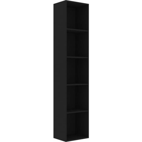 Book Cabinet Black 40x30x189 cm Chipboard