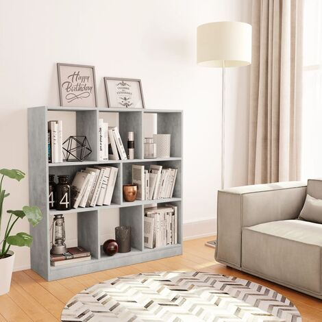 Book Cabinet Concrete Grey 97.5x29.5x100 cm Chipboard