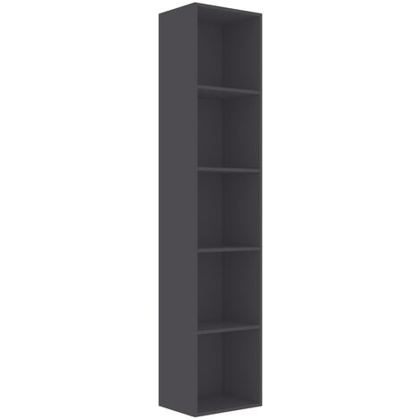 Book Cabinet Grey 40x30x189 cm Chipboard