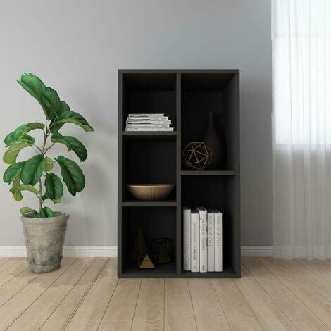 "main image of ""Book Cabinet/Sideboard Black 45x25x80 cm Chipboard - Black"""