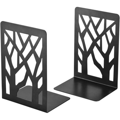 """main image of """"Book Ends, Bookends, Book Ends for Shelves, Bookends for Shelves, Bookend, Book Ends for Heavy Books, Book Shelf Holder Home Decorative, Metal Bookends Black 1 Pair, Bookend Supports, Book Stoppers"""""""