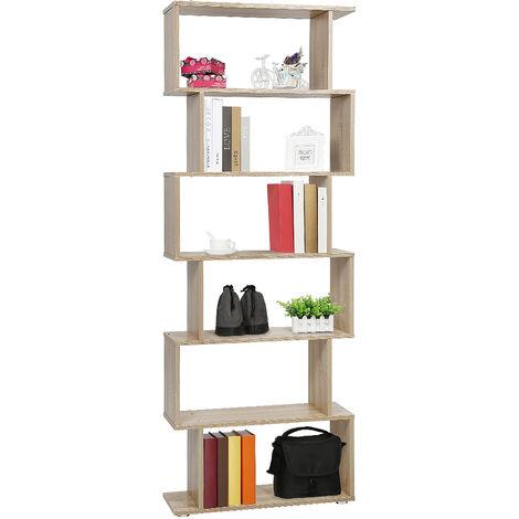 Bookcase Bookshelf Bookshelf Bookshelf S Shape Storage Shelf for Office, Living Room, Study Room £¬ oak