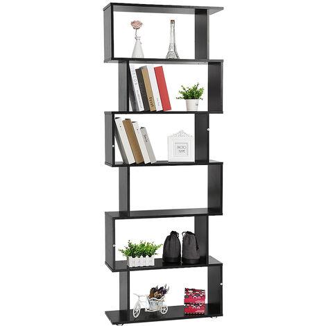 Bookcase Bookshelf Bookshelf Bookshelf S-Shaped Storage Shelf for Office, Living Room, Study Room £¬ black